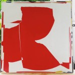 24x24 collage Red 3 abstractart collage contemporaryart michaelcutlip konaliving holualoahellip