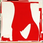 24x24 Red collage konaartist konaliving michaelcutlip collageart contemporaryart abstract