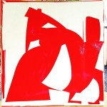 24x24 Red collage 2 konaartist konaliving michaelcutlip collageart contemporaryart abstract