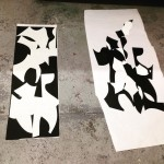 Printed piece on left stencils on right Stencils will becomehellip